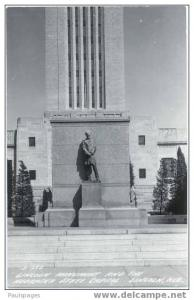 RPPC of Lincoln Monument at the Nebraska State Capitol, Lincoln, Nebraska, NE