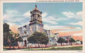 Mission San Jose Second Mission San Antonio Texas