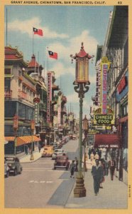 SAN FRANCISCO, California, 1930-40s; Grant Avenue, Store fronts, CHINATOWN
