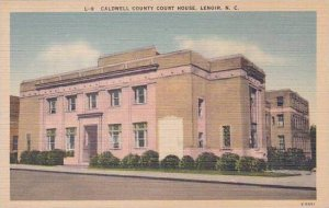 North Carolina Lenoir Caldwell County Court House Albertype