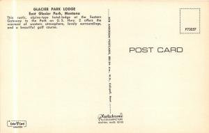 East Glacier Park Montana~Glacier Park Lodge~Beautiful Flower Gardens~Teepee~70s