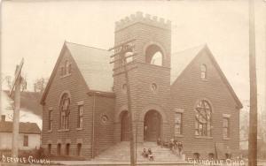 E92/ Salineville Ohio RPPC Postcard Columbiana 1911 Disciple Church 6