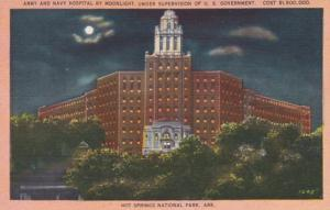 Arkansas Hot Springs Army and Navy Hospital By Moonlight
