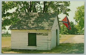 Gettsyburg Pennsylvania~Gen. Longstreet's Civil War Headquarters~Flag~1960s PC
