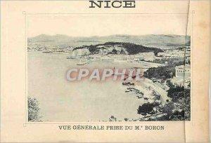 Postcard Old Nice Vue Generale taken from Mt Boron