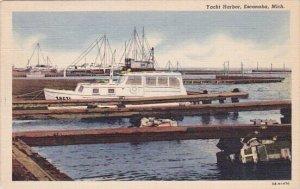 Yacht Harbor Escanaba Michigan 1947