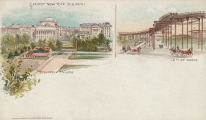 NEW YORK CITY, PMC 1898 ; Columbia College & 110th St Curve