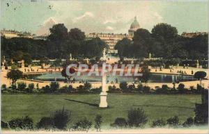 Old Postcard Paris Luxembourg Gardens
