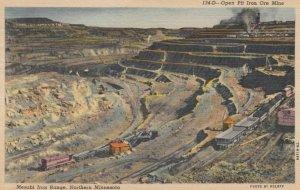 MINNESOTA, 1957; Open Pit Iron Ore Mine, Mesabi Iron Range