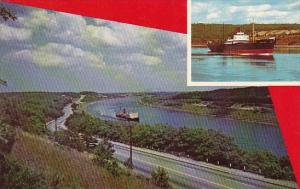 Massachusetts Cape Cod Bourne Scenic Highway Showing The Cape Cod Canal And S...