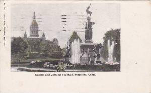 North Carolina Hartford Capitol And Corning Fountain 1905