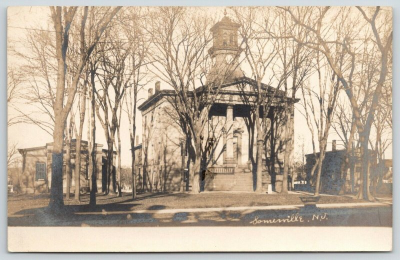 Somerville New Jersey~Old County Court House~Clerk Bldgs~Demolished~1905 RPPC