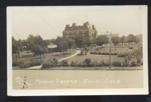 RPPC ENID OKLAHOMA PUBLIC SQUARE DOWNTOWN VINTAGE REAL PHOTO POSTCARD