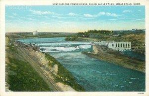 MT, Great Falls, Montana, Black Eagle Falls, Dam, Power House, No. 11690