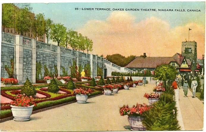 Lower Terrace of Oakes Garden Theater - Niagara Falls, Ontario, Canada pm 1940