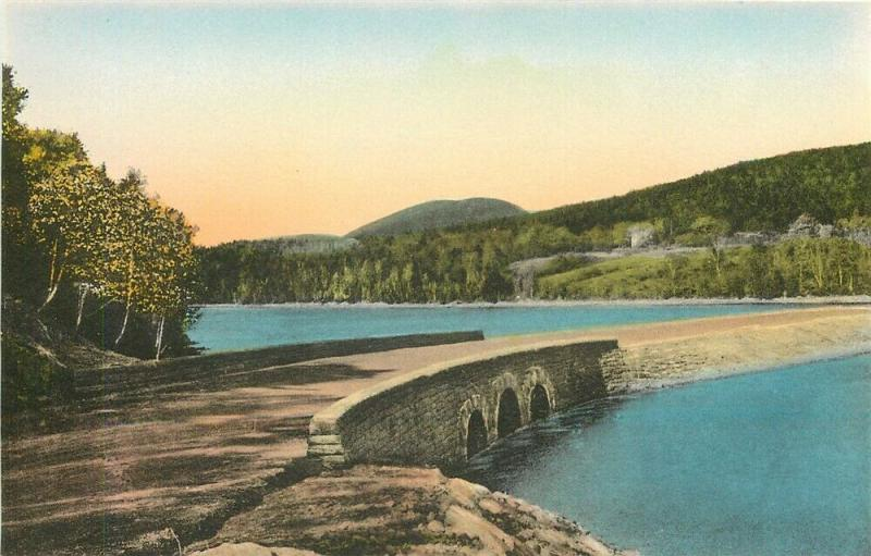 ME, Bar Harbor, Maine, Acadia National Park, Otter Creek Bridge, Lot of 2
