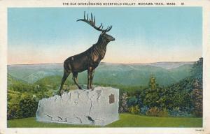 Elk Statue overlooking Deerfield Valley Mohawk Trail MA Massachusetts Roadside