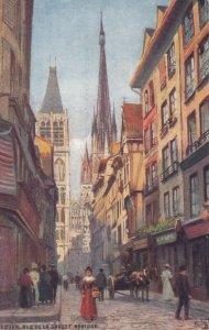 ROUEN, France, 1900-10s; Rue De La Grosse Horloge, TUCK Serie 107 No. 3