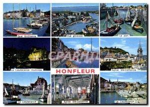 Modern Postcard La Cote Fleurie Honfleur Quai St Etienne General view The fis...