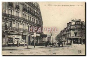 Postcard Old Trade Postcards Dijon Place Darcy and Boulevard Sevigne