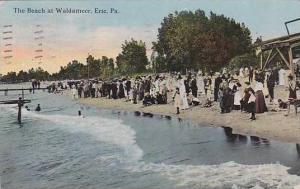 Pennsylvania Erie The Beach At Waldameer 1913