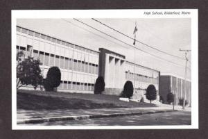 ME New High School BIDDEFORD MAINE Postcard Post card