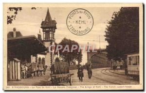 Postcard Old Customs Customs Customs The Strasbourg Kehl Bridge The French cu...