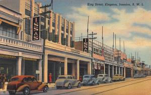 King Street, Kingston, Jamaica, Early Postcard, Used in 1939 to Cuba