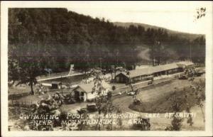 Swimming Pool at Smith Near Mountainburg AR Real Photo Postcard