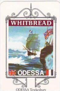 Whitbread Brewers Trade Card Maritime Inn Signs No 12 Odessa Tewkesbury