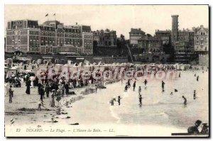 Old Postcard Dinard La Plage L'Heure Du Bain