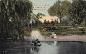 Fountain and Pool, Elizabeth Park, Hartford, Connecticut, 1900-1910s