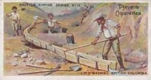 Player Vintage Cigarette Card British Empire Series No 16 Gold Washing Britis...