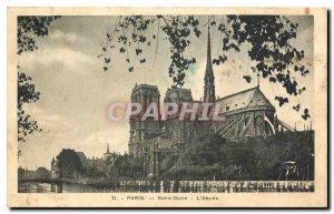Old Postcard Paris Notre Dame the apse