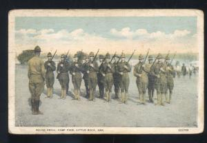 CAMP PIKE LITTLE ROCK ARKANSAS SQUAD DRILL US ARMY BASE VINTAGE POSTCARD
