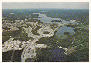 Canada Aerial View Elliot Lake Ontario