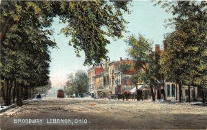 G78/ Lebanon Ohio Postcard Kramer Art Broadway Stores