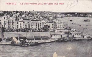 Italy Taranto La Citta vecchia vista dal Corso Due Mari 1917