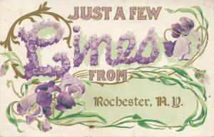 Just A Few Lines from Rochester, New York - pm 1912 - DB