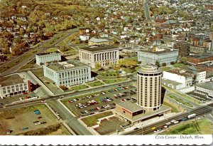 Minnesota Duluth Aerial View Civic Center