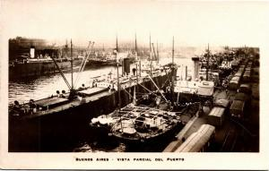 Buenos Aires, Partial View of the Port, Photo Postcard H22