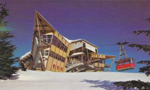 Skiing , Top of Grouse Mt , North Vancouver , B.C. , Canada , 40-60s