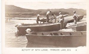 RP: Activity at Nithi lodge , Francois Lake , B.C. , Canada , 30-40s