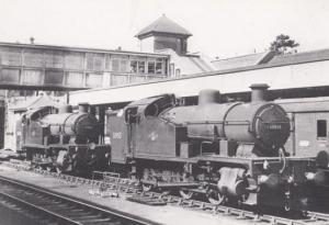 Engine 30955 Train at Exeter Station Devon St Davids Gradient Railway Postcard