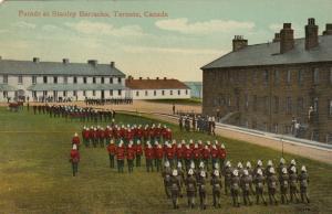 TORONTO , Ontario , Canada, 1900-10s ; Parade , Stanley Barracks