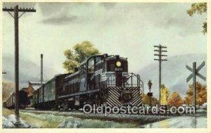 The Pittsburgh And Lake Erie Railroad Company Trains, Railroads Writing On Ba...