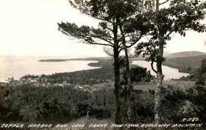 MI - Copper Harbor and Lake Fanny Hooe from Brockway Mountain *RPPC
