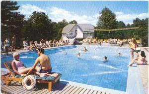 Pool Scene at The Dellwood Hotel, Purling, NY, New York