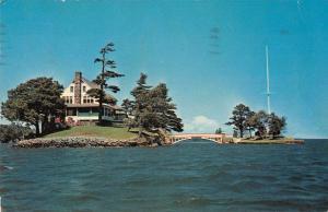 Zavikon Island New York scenic view international boundary vintage pc Z11489