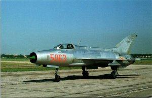 Mikoyan-Gurevich MIG-21F -  FISHBED C - Military Aircraft  Postcard